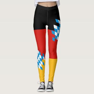 BAVARIA GERMAN FLAG COLORS + your ideas Leggings