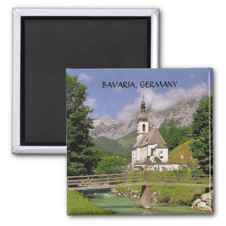 BAVARIA, GERMANY 2 INCH SQUARE MAGNET