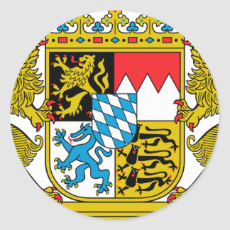 Bavaria (Germany) Coat of Arms Classic Round Sticker