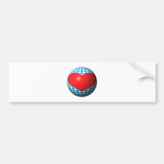 Bavaria heart ball Bavaria heart sphere Bumper Sticker