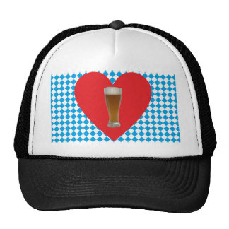 Bavaria heart Weiisbier Bavaria heart wheat more b Trucker Hat