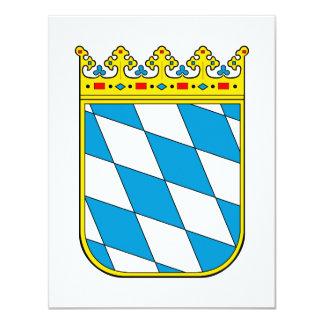 Bavaria lesser coat of arms 4.25x5.5 paper invitation card