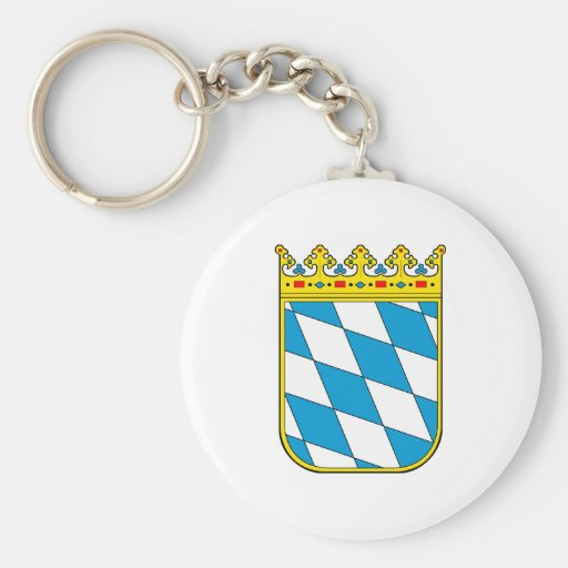 Bavaria lesser coat of arms basic round button keychain