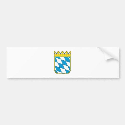 Bavaria lesser coat of arms bumper sticker
