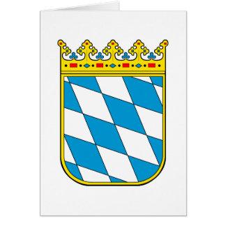 Bavaria lesser coat of arms card