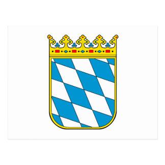 Bavaria lesser coat of arms postcard
