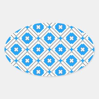 Bavaria Pattern Oval Sticker