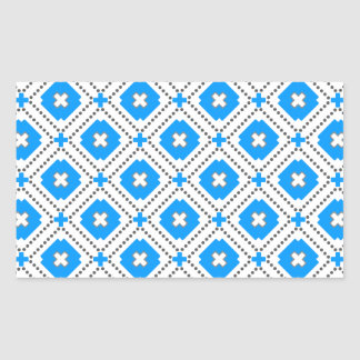 Bavaria Pattern Rectangular Sticker
