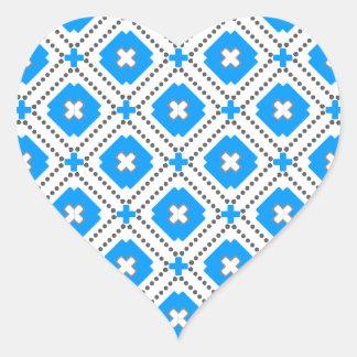 Bavaria Pattern Heart Sticker