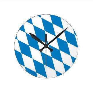 bavaria region flag germany country round clocks