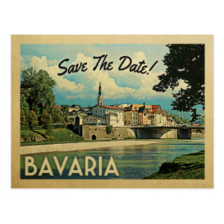 Bavaria Save The Date Germany Bad Tolz Isar River Postcard