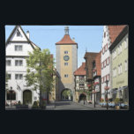"Bavaria Town Main Street Cloth Placemat<br><div class=""desc"">A beautiful Bavarian town main street</div>"