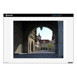 Bavaria Town Through an Arch Laptop Skin