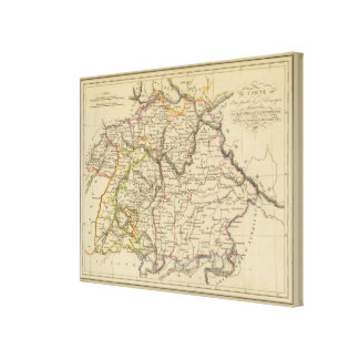 Bavaria, W�rttemberg and Baden Gr Canvas Print