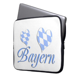 Bavaria with hearts laptop sleeve