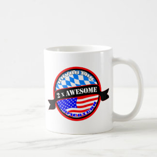 Bavarian American 2x Awesome Coffee Mug