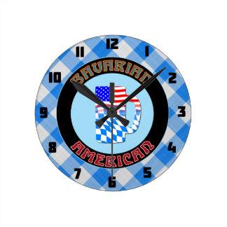 Bavarian American Beer Stein Round Clock