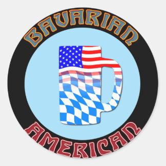 Bavarian American Stein Classic Round Sticker