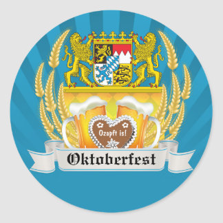Bavarian Arms and Beer Oktoberfest Sticker