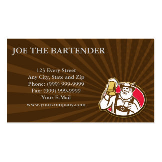 Bavarian Barman Bartender Retro Double-Sided Standard Business Cards (Pack Of 100)