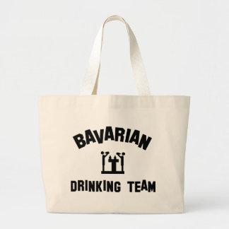 bavarian bayern drinking team jumbo tote bag