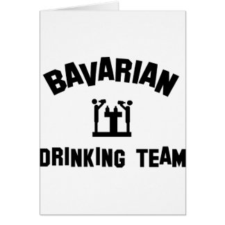 bavarian bayern drinking team greeting card