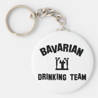 bavarian bayern drinking team basic round button keychain