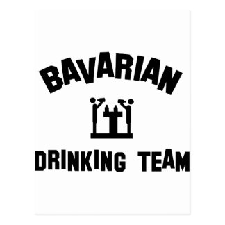 bavarian bayern drinking team postcard