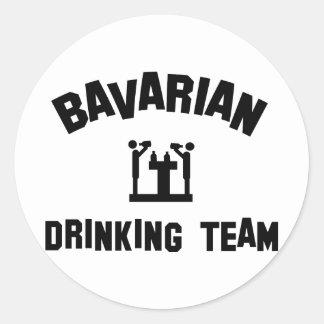 bavarian bayern drinking team classic round sticker