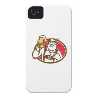 Bavarian Beer Drinker Mug Retro iPhone 4 Cases