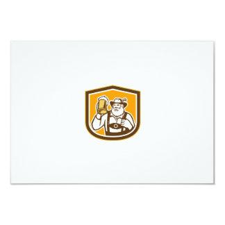 Bavarian Beer Drinker Mug Shield Retro Personalized Announcement