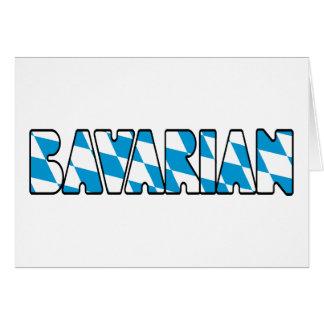 BAVARIAN GREETING CARD