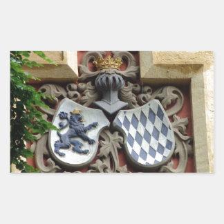 Bavarian Coat of Arms Rectangular Sticker