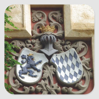 Bavarian Coat of Arms Square Sticker