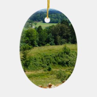 Bavarian Countryside Ceramic Ornament