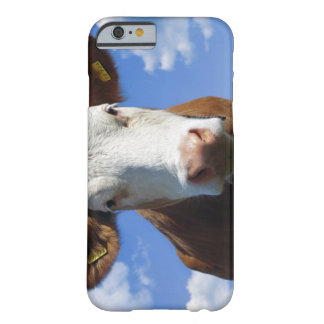 Bavarian cow against blue sky barely there iPhone 6 case