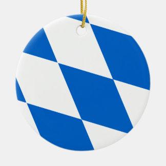 Bavarian flag Bavaria Ceramic Ornament