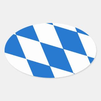 Bavarian flag Bavaria Oval Sticker