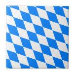 Bavarian Flag - Bayerische Flagge Ceramic Tile