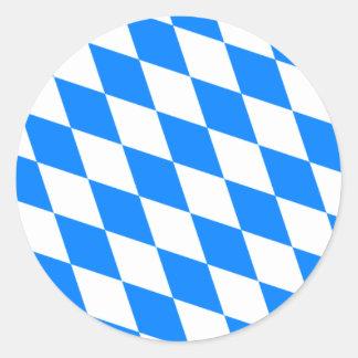 Bavarian Flag - Bayerische Flagge Classic Round Sticker