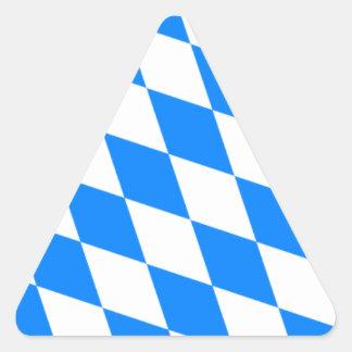 Bavarian Flag - Bayerische Flagge Triangle Sticker