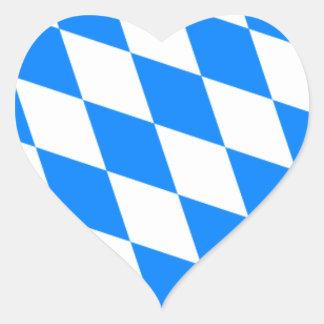 Bavarian Flag - Bayerische Flagge Heart Sticker
