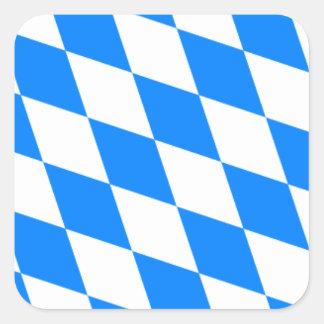 Bavarian Flag - Bayerische Flagge Square Sticker