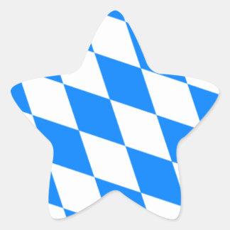 Bavarian Flag - Bayerische Flagge Star Sticker