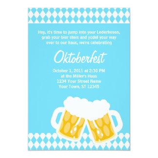 "Bavarian Flag & Bier Stein Oktoberfest Invitation 5"" X 7"" Invitation Card"