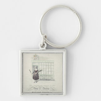 Bavarian Girls Song by Maxim Gouci, song sheet Silver-Colored Square Keychain