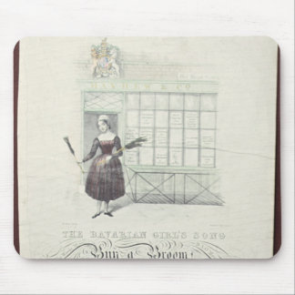 Bavarian Girls Song by Maxim Gouci, song sheet Mouse Pad