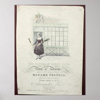 Bavarian Girls Song by Maxim Gouci, song sheet Poster