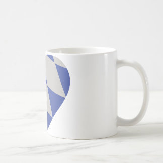 bavarian heart icon coffee mug