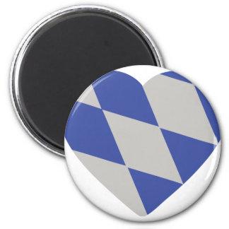 bavarian heart icon magnet